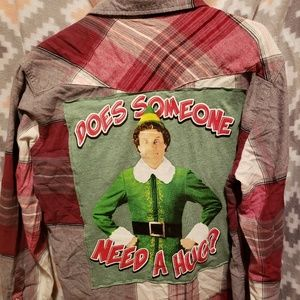 Upcycle Levis Shirt Buddy the Elf Size L